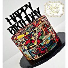 Just your friendly neighborhood Spider-Man birthday cake ❤️