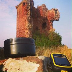 Red castle at Lunan, Angus, Scotland. Geocaching takes u to some amazing places. Geocaching Containers, Scotland Vacation, Amazing Places, The Good Place, Castle, Red, Castles