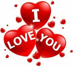 Love You in Triple Hearts I Love You Images, L Love You, Love Pictures, My Love, Love Heart Images, Love Smiley, Emoji Love, Romantic Love, Beautiful Love