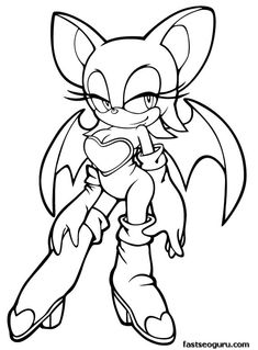 sonic mephiles coloring pages - photo#36