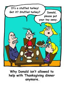 Holiday Cartoons – H. Rose Cartoons  - Visit the website for more funny cartoons and laughs! - Thanksgiving dinner