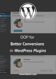 OOP for Better Conversions in WordPress Plugins - Igor Benić Learn Wordpress, Wordpress Plugins, Web Development, Conversation, About Me Blog, How To Get, Ads, Posts, Learning