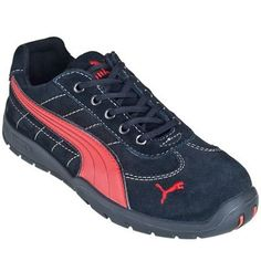 Puma Men's Steel Toe 64.263.5 Heat-Resistant Black/Red Athletic Shoes