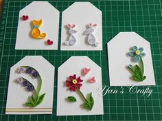 Springs quilling mini tags