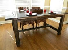 Small Farmhouse Dining Table by carolinafarmhouse on Etsy ... a generous Christmas present to ourselves?