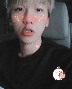 Peach Blush, Tsundere, Chanbaek, Ikon, Baekhyun, Kawaii, Tumblr, Bts, Draw