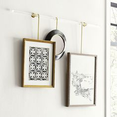Create an instant gallery wall with our modular Picture Rail system. This picture rod has different size rails to give a real art gallery feel. Create wall decor that fits any size and style you may have! Wall Accessories, Decorative Accessories, Picture Hangers, Picture Frames, Picture Rail Hanging, Acrylic Rod, Perfect Date, Ballard Designs, Decorative Objects