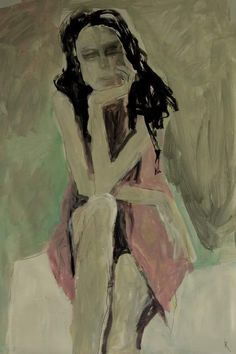 Barbara Kroll skizze cardboard 100 x 70 acryl