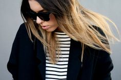 stripes/shades and jacket = love