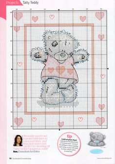 A Heart Full Of Love (Tatty Teddy) From The World Of Cross Stitching-TWOCS-N°152-July-2009 3 of 4