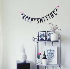 #Wordbanner #tip: Keep smiling - Buy it at www.vanmariel.nl - € 11,95