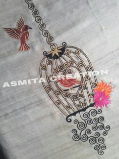 Zardozi Embroidery, Hand Work Embroidery, Embroidery Motifs, Hand Embroidery Designs, Beaded Embroidery, Machine Embroidery, Thread Work, Silk Thread, Fabric Painting