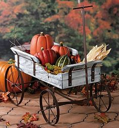 Rustic Wagon...decorated for fall.
