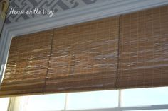 DIY Faux Bamboo Shade from Placemats ~ House on the Way