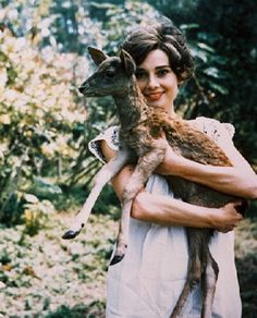 Audrey and a baby