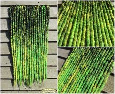 'Toxic' green, black and yellow crocheted synthetic dreads by Black Sunshine