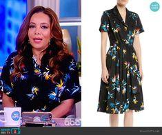e616d0cf90b708 Short-Sleeve Button-Down Floral-Print Cotton Poplin Shirtdress by Jason Wu