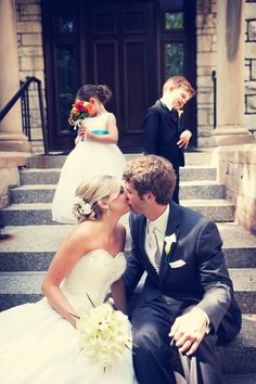 Kids don't look! Photo by Chris K. #MinneapolisWeddingPhotography #WeddingPhotography
