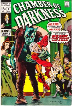 Chamber of Darkness 8 Marvel Comics Wrightson Ditko Clowns Halloween Party Tales Horror Fear Terror Scary Monsters Creepy 1970 VF by LifeofComics #comicbook