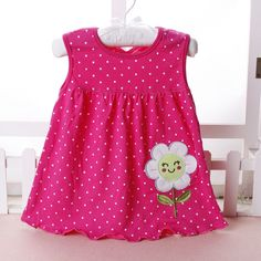 0 3t animal floral cotton girls dress summer baby girl sleeveless dress princess dot newborn