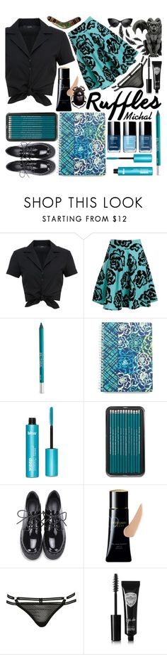"""""""Ruffled Tops"""" by michal100-15-4 ❤ liked on Polyvore featuring Hallhuber, Red Label, Urban Decay, Vera Bradley, Clé de Peau Beauté, Topshop, Eyeko and ruffledtops"""
