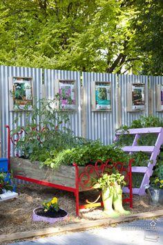 Bed Container Garden   by Baanlaesuan