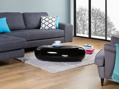 Coffee table- Living room - Fiberglass - Black - PELION