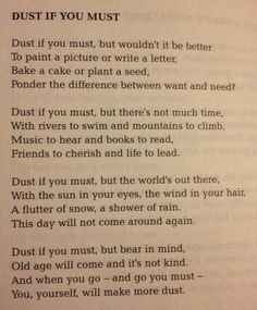 Dust If You Must~ for every parent...