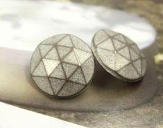 Multi Facet Metal Buttons , Copper Patina Color , Shank , 0.79 inch , 10 pcs  by Lyanwood, $6.00