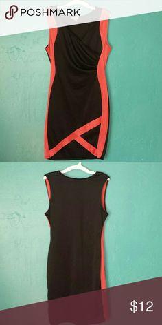 "Beutiful dress Black & red dress 34""long fashion magazine Dresses Asymmetrical"