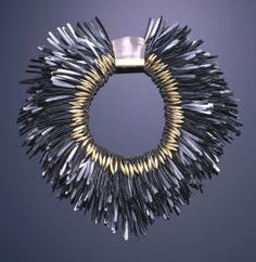 Necklace, designed and made by Tone Vigeland (Norwegian, b. 1938), Oslo, Norway, 1983, Museum purchase from Decorative Arts Association Acquisition Funds and General Acquisition Endowment, 1984-83-1 - See more at: http://www.cooperhewitt.org/object-of-the-day/2013/07/31/no-breeze-will-ruffle-these-feathers#sthash.Azgt4WGh.dpuf