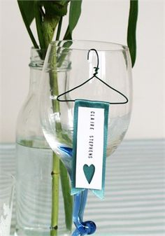 Perfect for dinner parties, or larger events such as wedding, these Wine Glass Name Place Hangers for glasses are an innovative approach to name places. Simply hang from glasses to help guests find their seats. Ribbons come in a variety of colours to help match colour schemes.