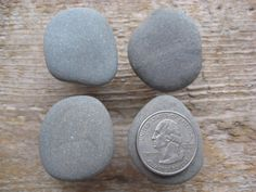 NATURAL Beach Stone Cabinet KNOBS. $33.00, via Etsy.