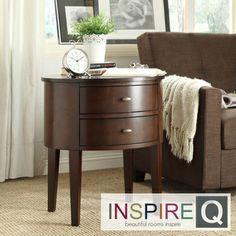 Inspire Q Neo Oval Cherry Brown Nightstand   Overstock.com Shopping - Great Deals on INSPIRE Q Nightstands