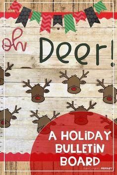 Share what you'd do if you found one of Santa's reindeer with this adorable December bulletin board set. Includes bulletin board letters and reindeer with prompts for writing about the holidays. Reindeer Bulletin Boards, December Bulletin Boards, Writing Bulletin Boards, Holiday Bulletin Boards, Kindergarten Bulletin Boards, Halloween Bulletin Boards, Birthday Bulletin Boards, Kindergarten Writing Prompts, Classroom Bulletin Boards