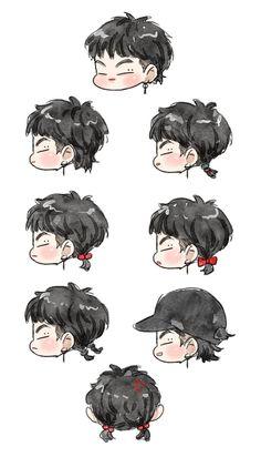 Jbbong and mullet hair - Modern Youngjae, Jaebum Got7, Yugyeom, Got7 Jb, Got7 Fanart, Kpop Fanart, Girls Girls Girls, Fantasy Character, Character Design