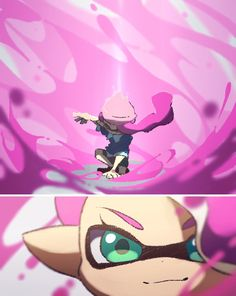 """*ink goes away**4 splat dualies are surrounding her* """"oh woomy"""""""