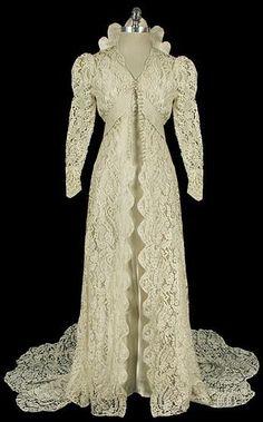 Irish Lace wedding dress, 1930s.