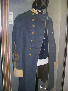 Confederate Cavalry Officer's uniform of Colonel Walter L. Mann ~ San Jacinto Museum.