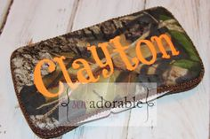 Monogrammed Camo Travel Wipe Case  Great by SewAdorableBowtique, $12.00