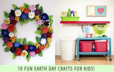 10 fun earth day crafts for kids Earth Day Crafts, Nature Crafts, Fun Crafts, Crafts For Kids, Classroom Projects, Projects For Kids, Craft Projects, Preschool Projects, Earth Day Activities