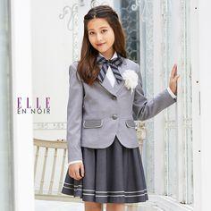 1c0431730ef79  卒業式 スーツ 女の子 小学生 卒服 4901-2504 グレートーンストライプスカート