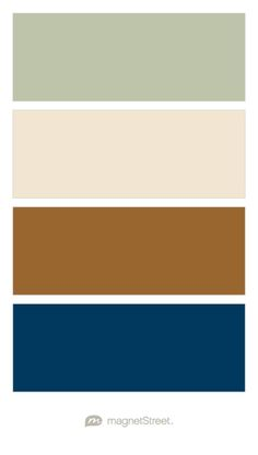 Sage, Champagne, Bronze, and Navy Wedding Color Palette - custom color palette created at MagnetStreet.com