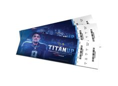 The 2016 Tennessee Titans season ticket books were delivered to season ticket members in July. Each recipient's book included their 10 home game tickets, featuring a different player for each game. Ticket Design, Game Tickets, Season Ticket, Tennessee Titans, Sport Design, Social Media, Graphic Design, Seasons, Magnets