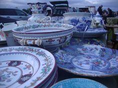 Close up of some china at my stall at the new midweek Newark Fair