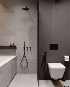 Home Room Design, Home Interior Design, Living Room Designs, Interior Decorating, House Design, Dark Bathrooms, Amazing Bathrooms, Bathroom Design Luxury, Modern Bathroom Design