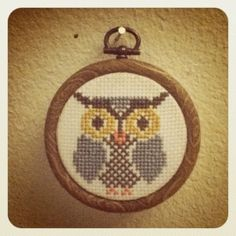 I need this for my house #owl #cross stitch