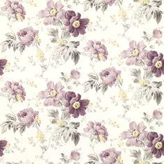 Peony Garden Amethyst Wallpaper at Laura Ashley