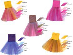 colour inspirations - primadonna tutus