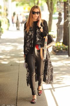 Just another day: Wednesday proved no exception to Olivia Palermo's commitment to fashion, as she stepped out in New York City wearing yet another flawless ensemble
